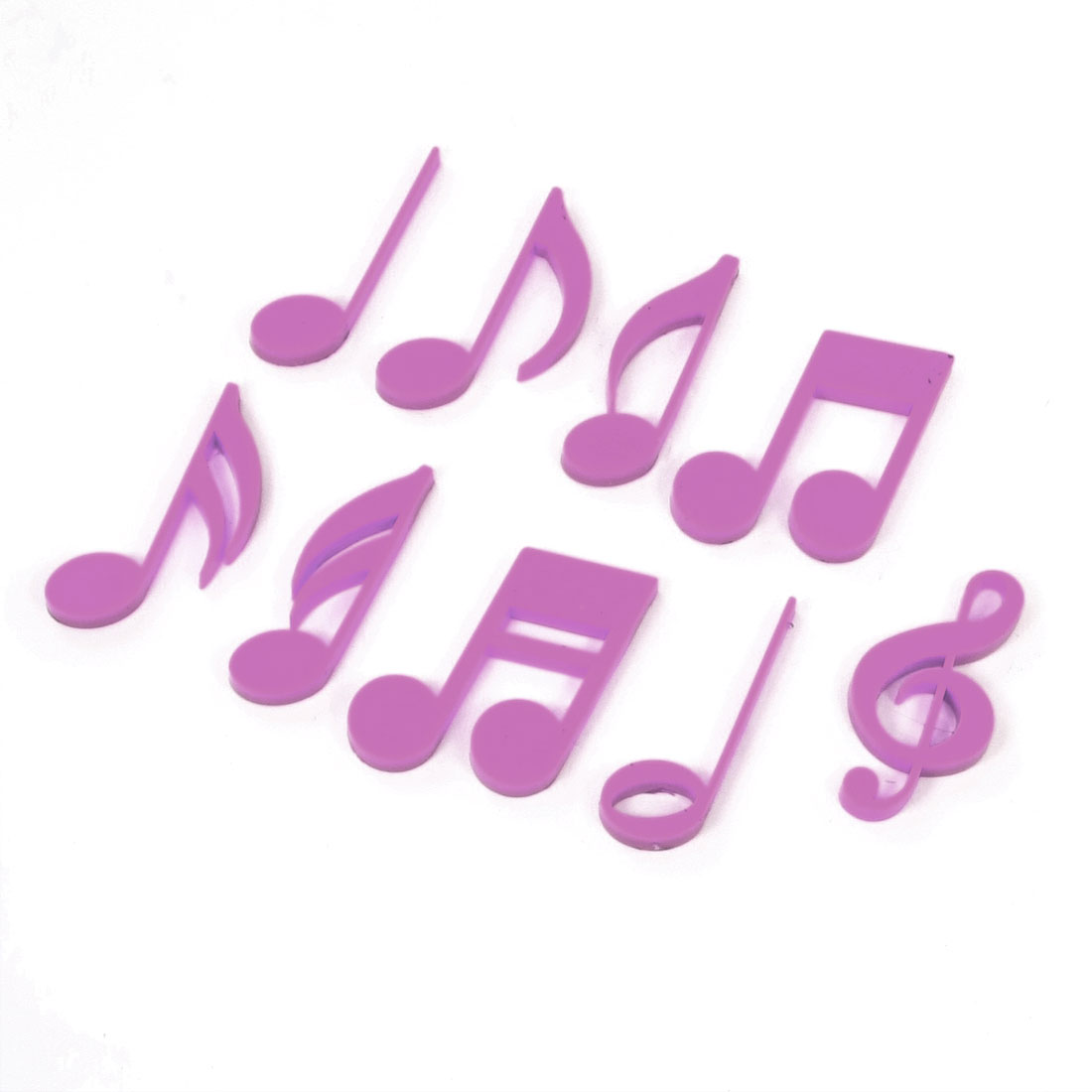 1 Set Purple Plastic Musical Note Shape Teaching Planning Magnets