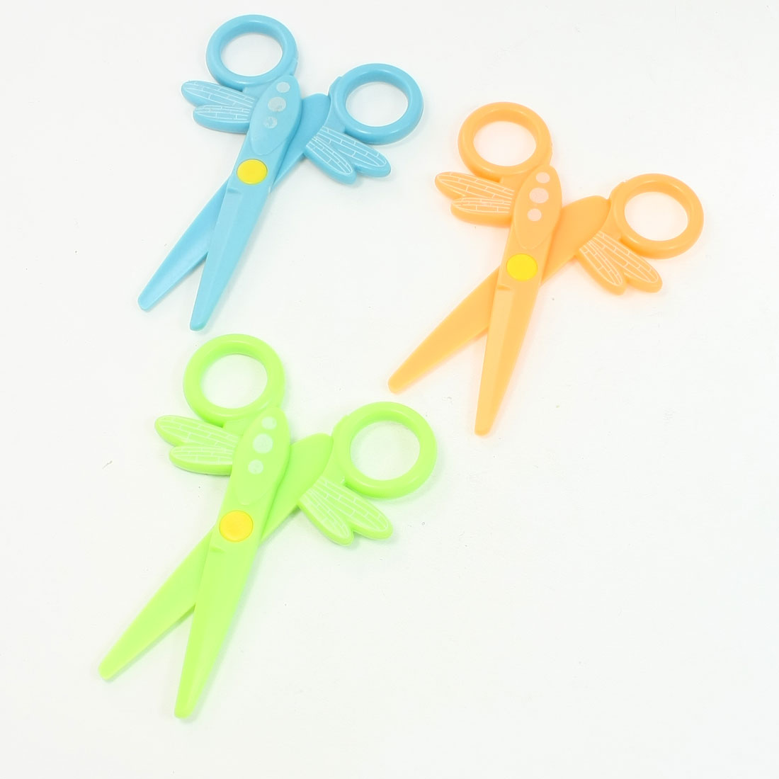 3 Pcs Whole Plastic Blunt Tip Stationery Scissors for Children