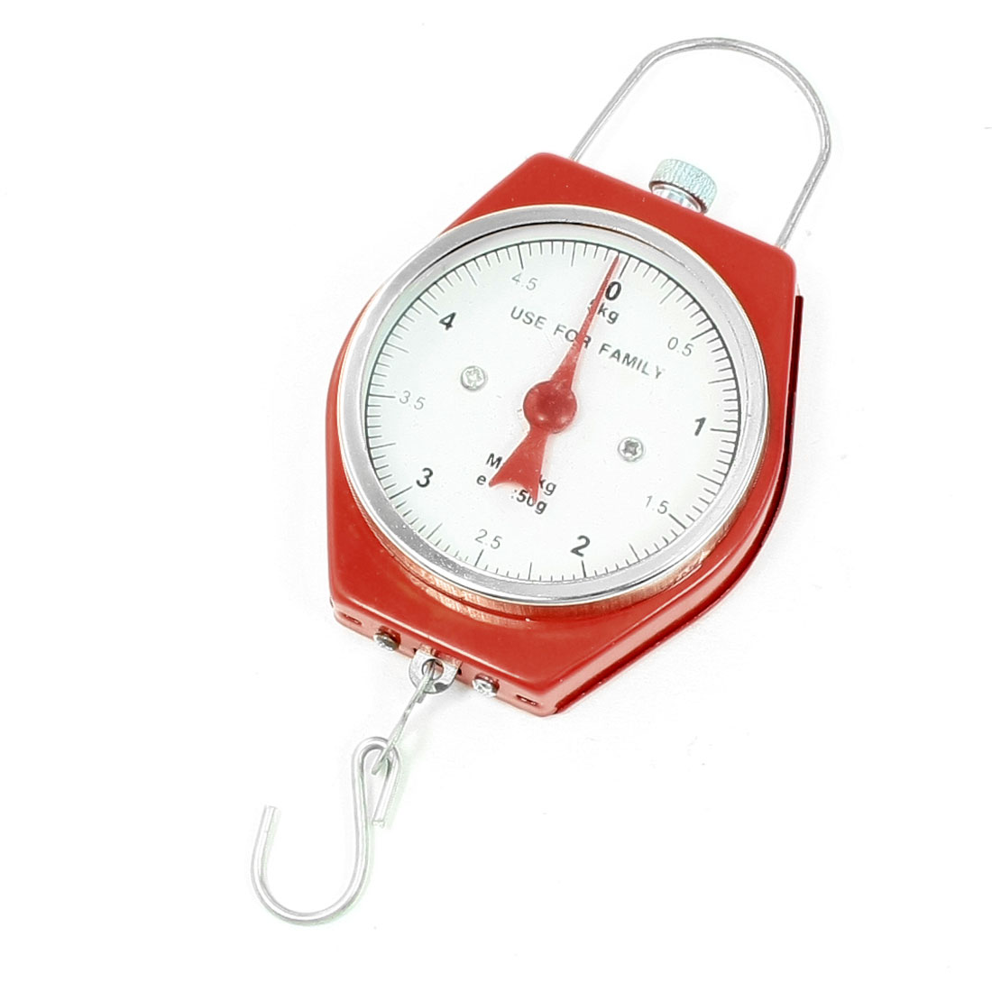 Red Weight Measure Tool Handheld Scale Spring Balance 5Kg