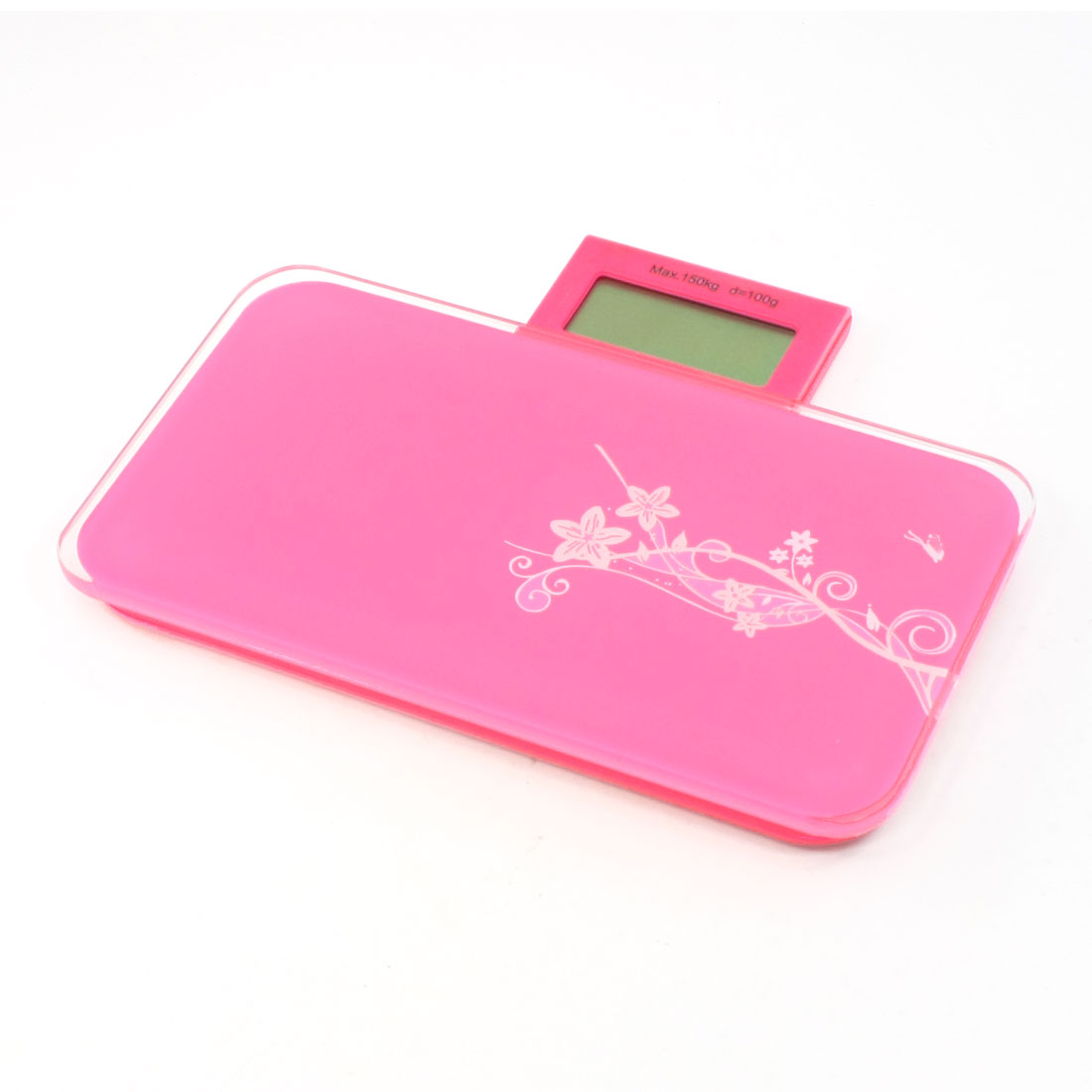 Pink Plastic Electronic Digital Weighing Scale Range 150kg