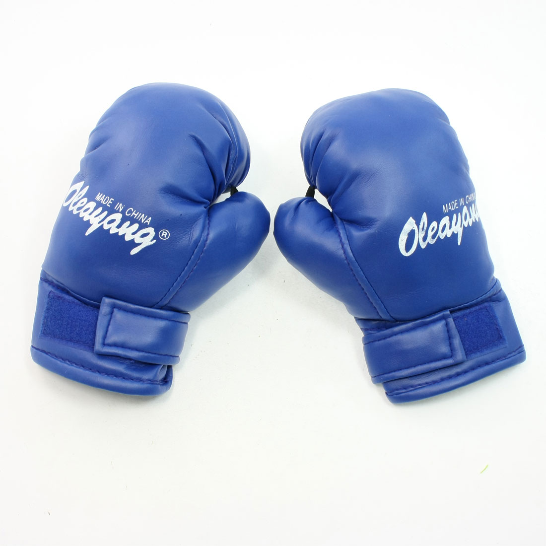 Blue Inside Sponge Faux Leather Sports Protetion Boxing Gloves for Kids