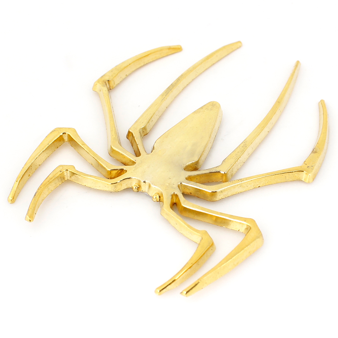 Gold Tone Metal 3D Spider Shaped Sticker Badge Decor for Auto