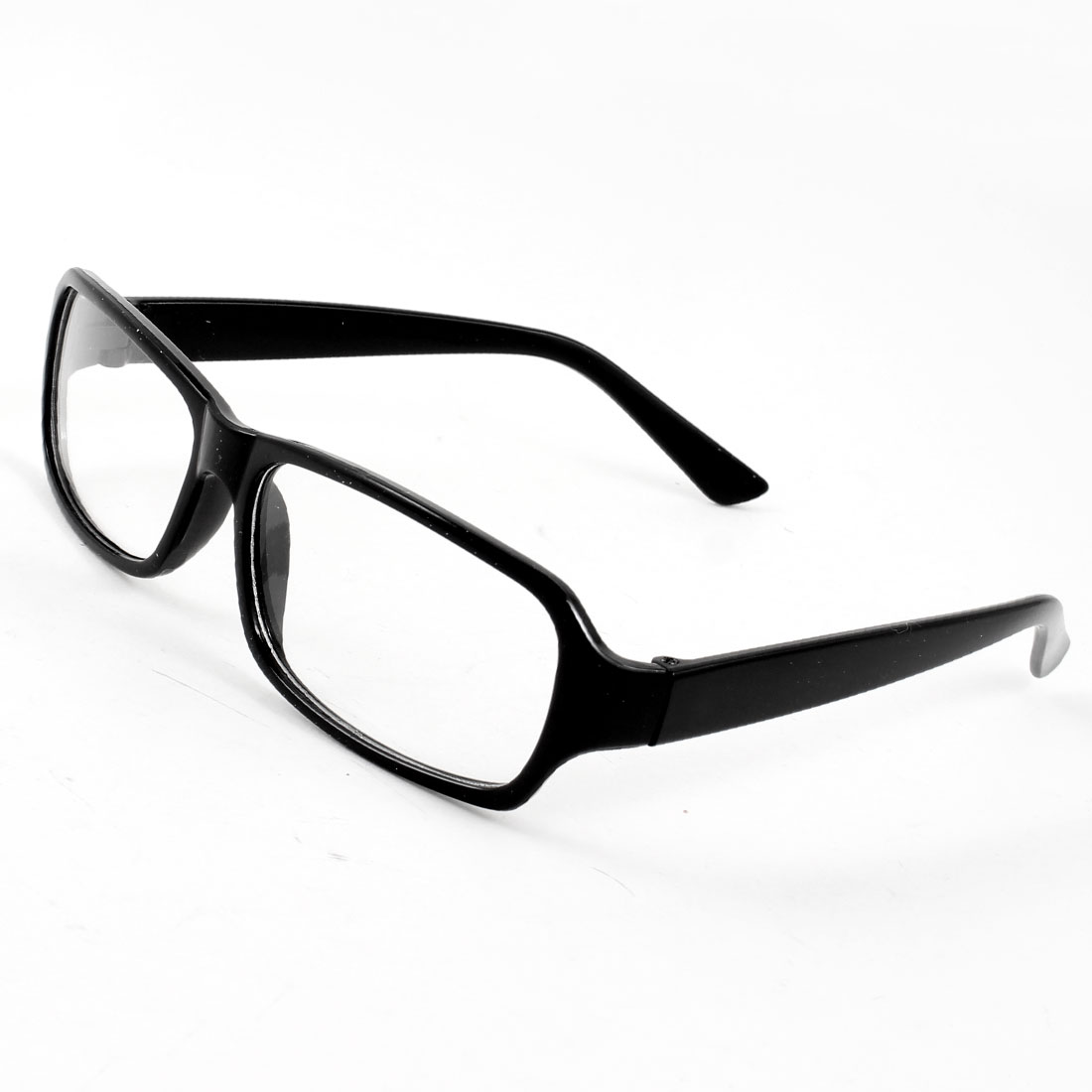 Vintage Arm Clear Lens Plain Spectacles Fashion Eyewear Glasses Black for Lady