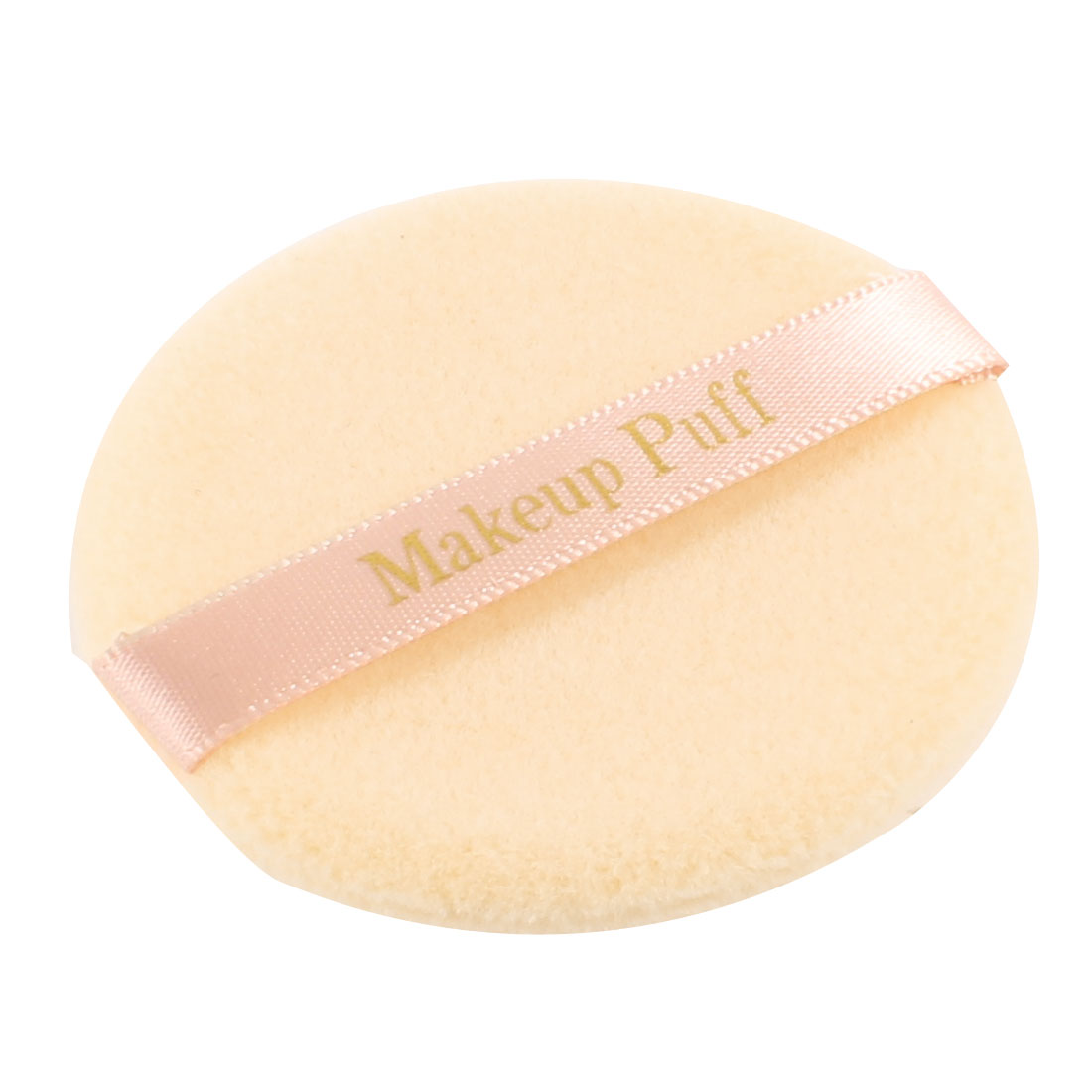 Lady Facial Makeup Tool Round Beige Soft Sponge Cleaner Powder Puff