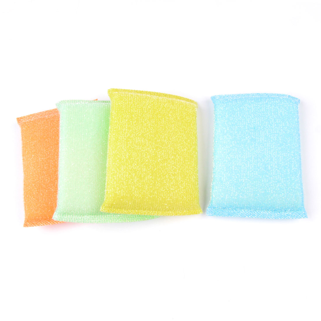 Assorted Color Dish Cleaning Metallic Scrub Sponge Pad Cleaner 4 Pcs