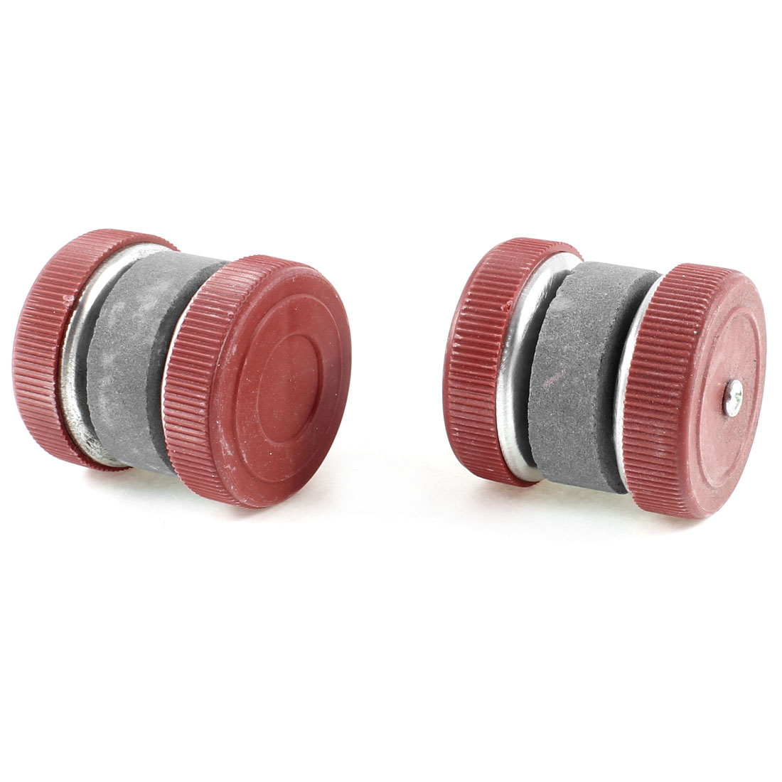 2 Pcs Kitchen Plastic Wheel Grinding Cutter Sharping Whetstone Sharpener Tool Red