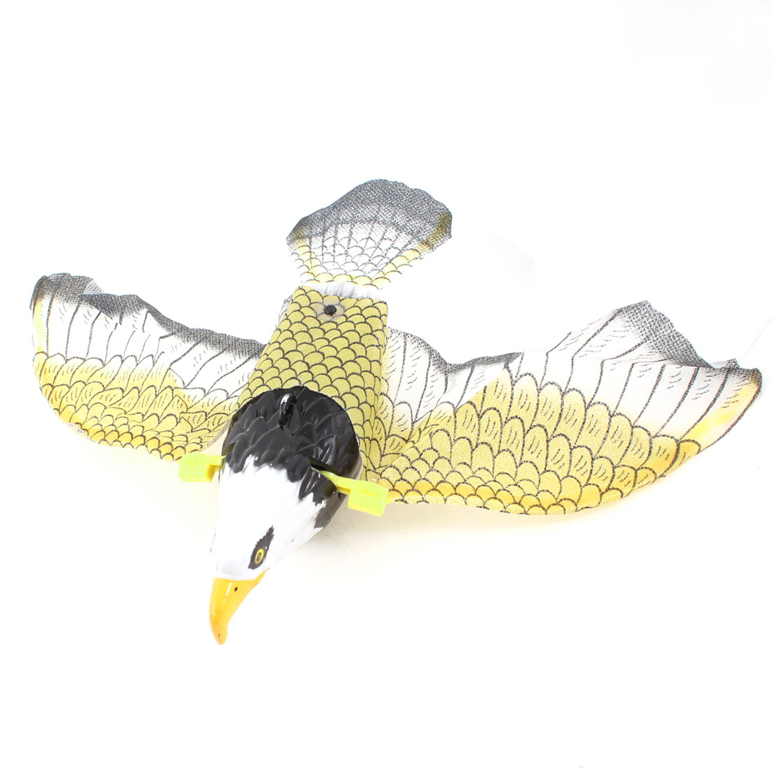 Plastic Electric Flying Eagle Hawk Music Toy Gift Yellow White for Child