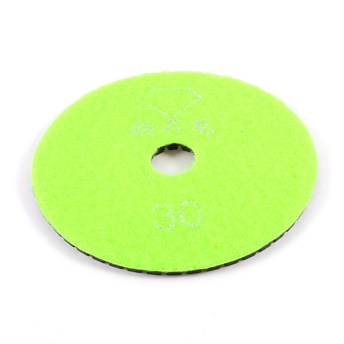 "3.9"" Outside Dia 30 Grit Marble Diamond Polishing Pad Black Green Yellow"