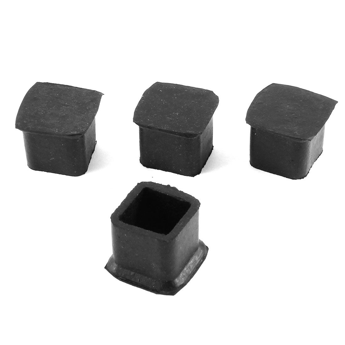 "1.3"" Height Furniture Table Desk Foot Leg Black Rubber Covers 4 Pcs"