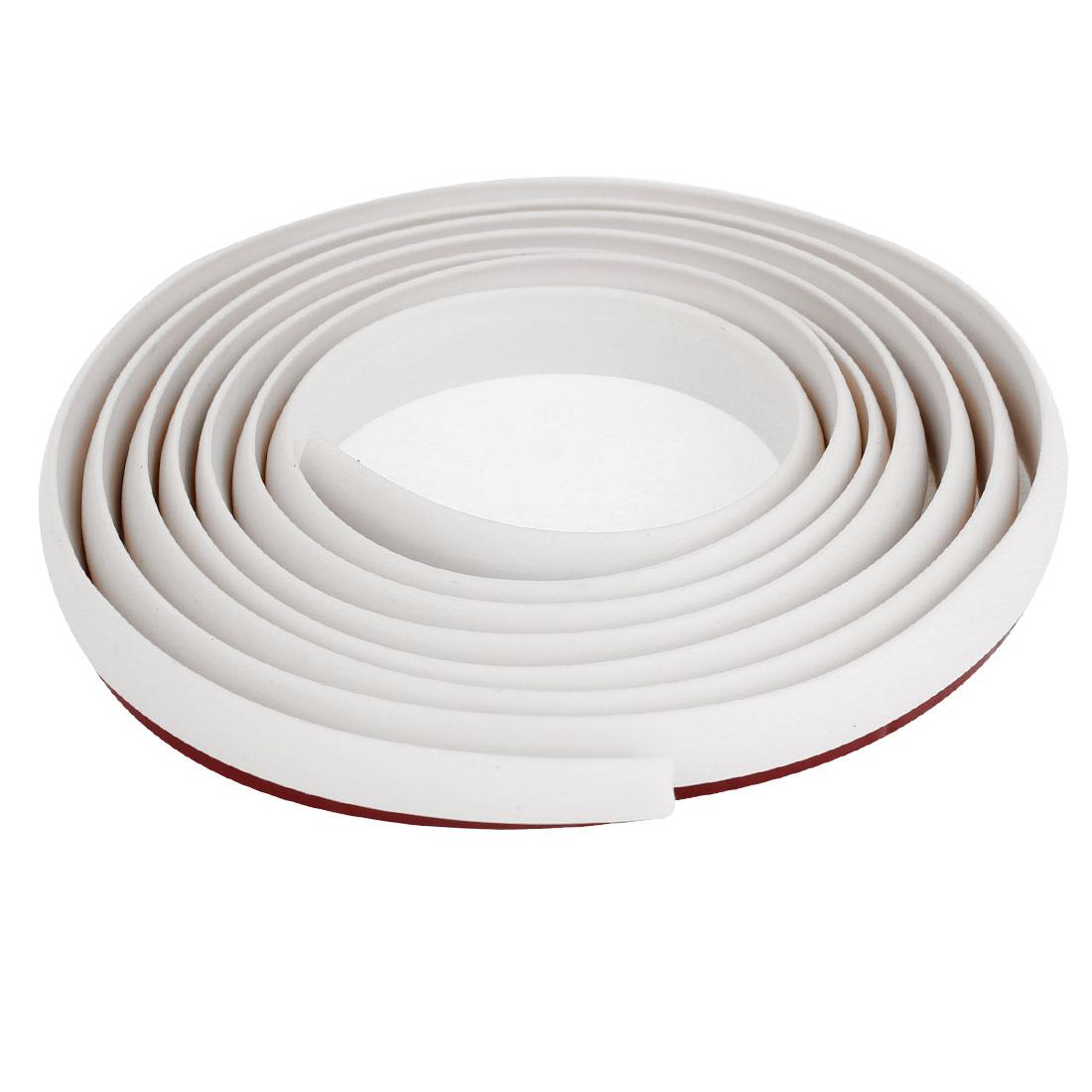 178cm Long White Rubber Flexible Strip Sticker Decor for Car