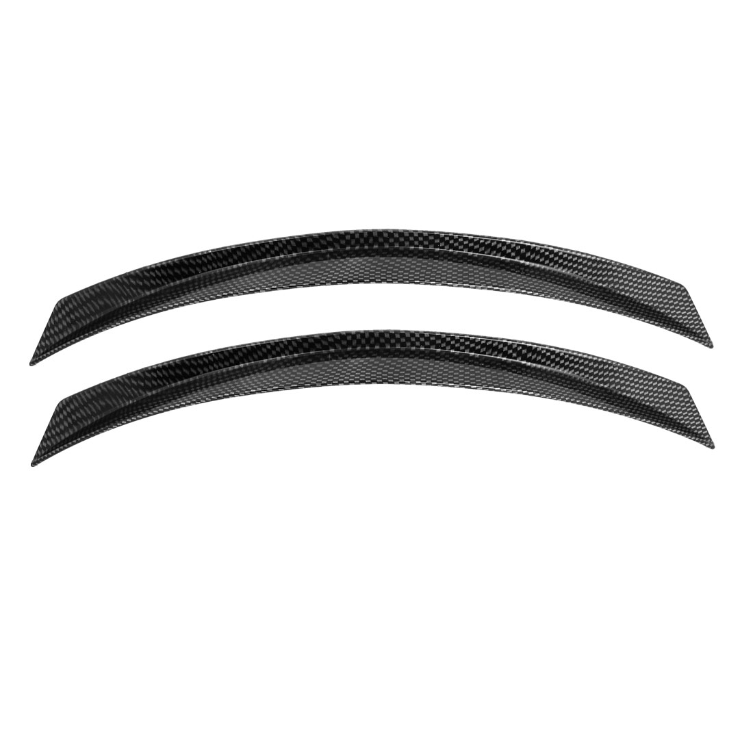 Truck Car Decorative Carbon Fiber Pattern Wheel Arch Eyebrow Strip Decor x 2