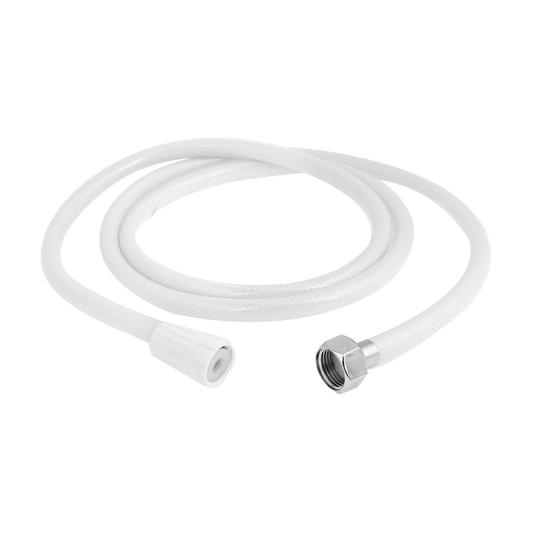 1.9Meter Long 19mm Thread Flexible Bathing Shower Hose Tube Pipe White