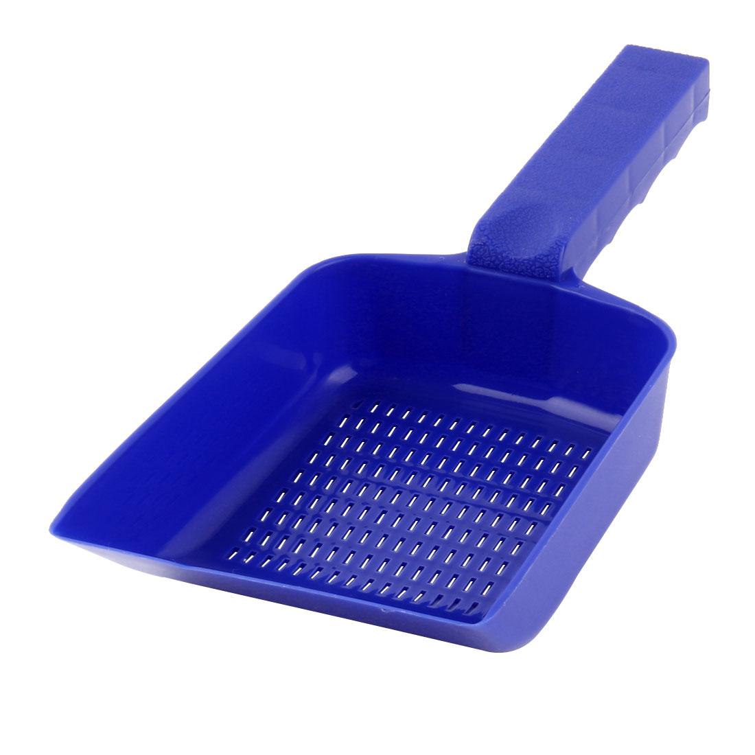 Aquarium Pool Portable Plastic Handle Sand Scraper Scoop Pan Blue