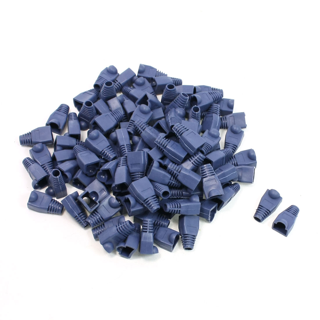100 Pieces Computer Parts Blue Boots Cover Cap for RJ45 Connectors