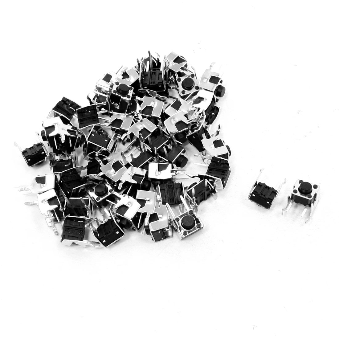 50pcs Momentary 2 Pin Right Angle Tactile Tact Button Switch 6mm x 6mm x 5mm