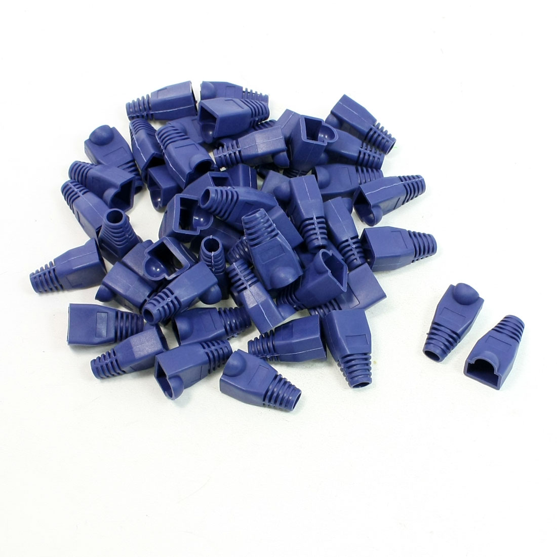 50 Pcs Anti Dust Plastic Boots Cover Cap Blue for RJ45 Connector