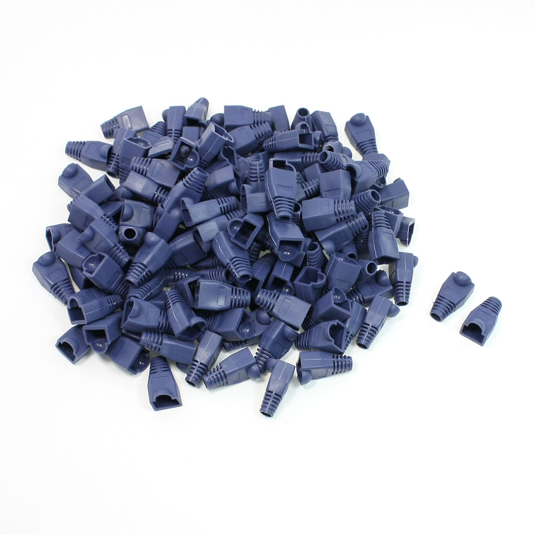 150 Pcs Blue Plastic Boots Cover Cap for RJ45 Connectors