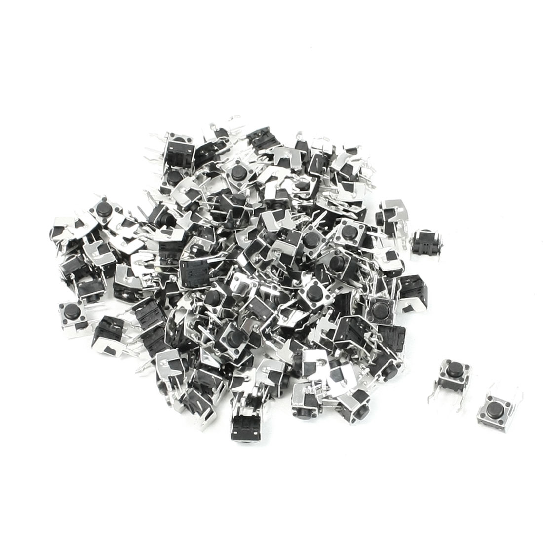 100pcs 6x6x5mm 2 Pin PCB Right Angle Momentary Tactile Push Button Switch