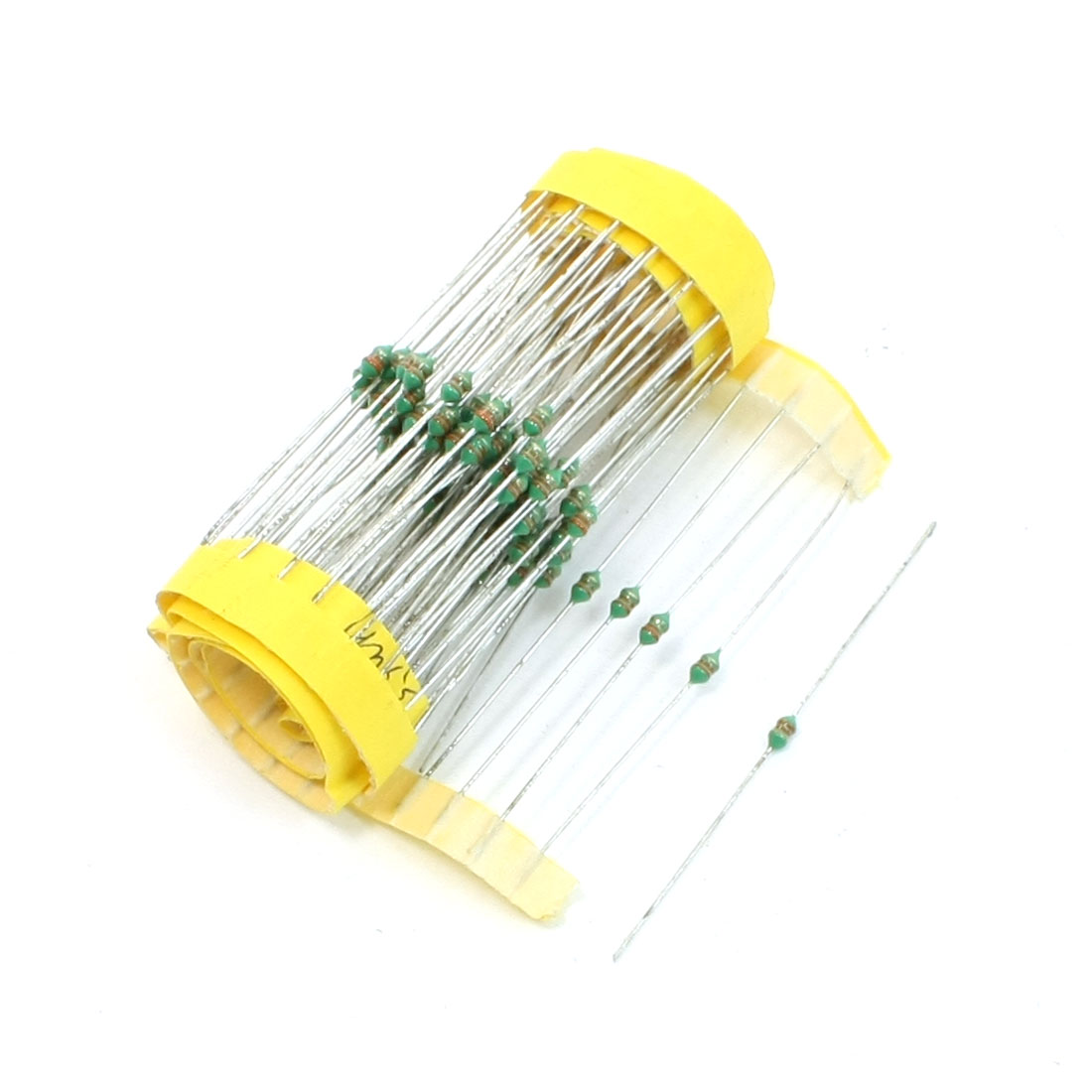 Replacement 3 Color Loop Axial Leads Fixed Inductors 3.3uF 1/8W 100 Pcs