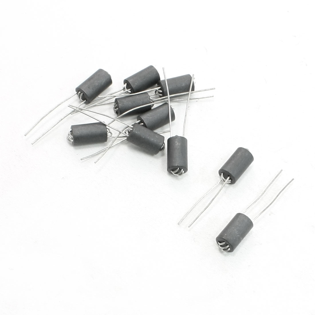 6mm x 10mm x 0.8mm Axial Lead 6 Channel Ferrite Beads Inductors 10 Pcs