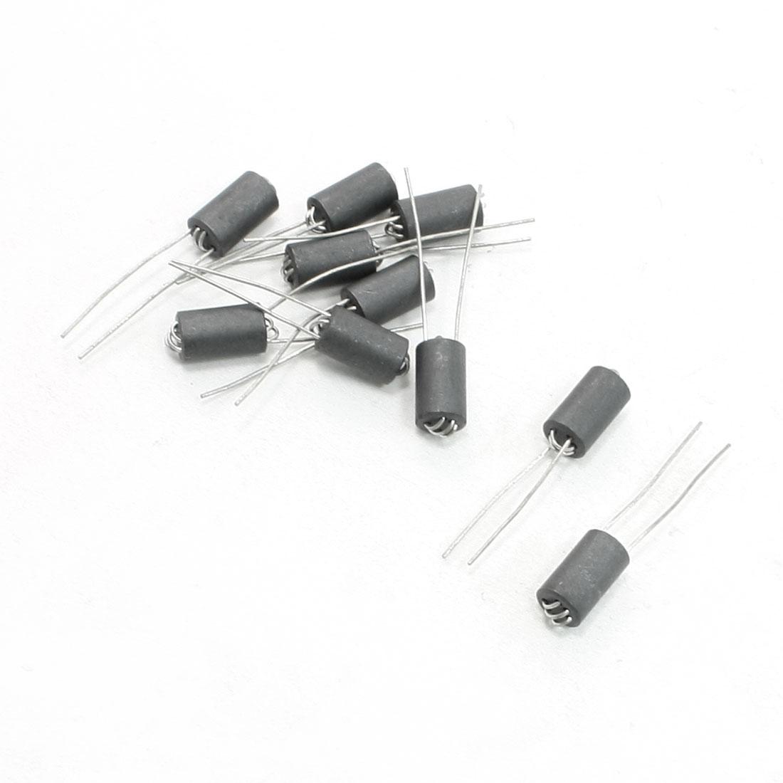 6mm x 10mm x 0.8mm Axial Lead 6 Channel Ferrite Beads Inductors 10 Pcs