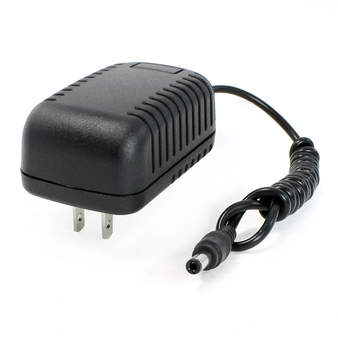 12V 2A Output US Plug AC100-240V 2.1mmx5.5mm DC Jack Adapter Black