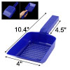 Aquarium Pool Portable Plastic Handle Sand Scraper Scoop Pan Blue