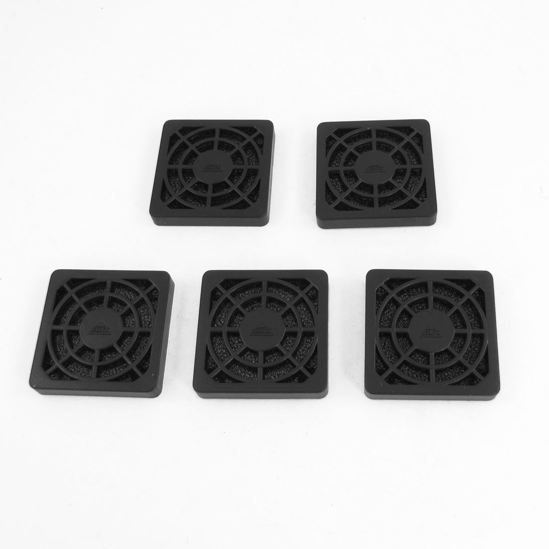 5 Pcs Computer Desktop Dust Proof Plastic Washable 4cm Fan Shield Filter Black