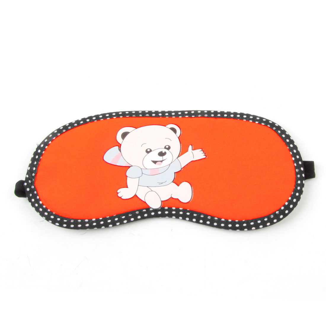 Orange Nylon Sponge Cartoon Bear Printed Eye Mask Eyeshade Cover Sleep Blinder