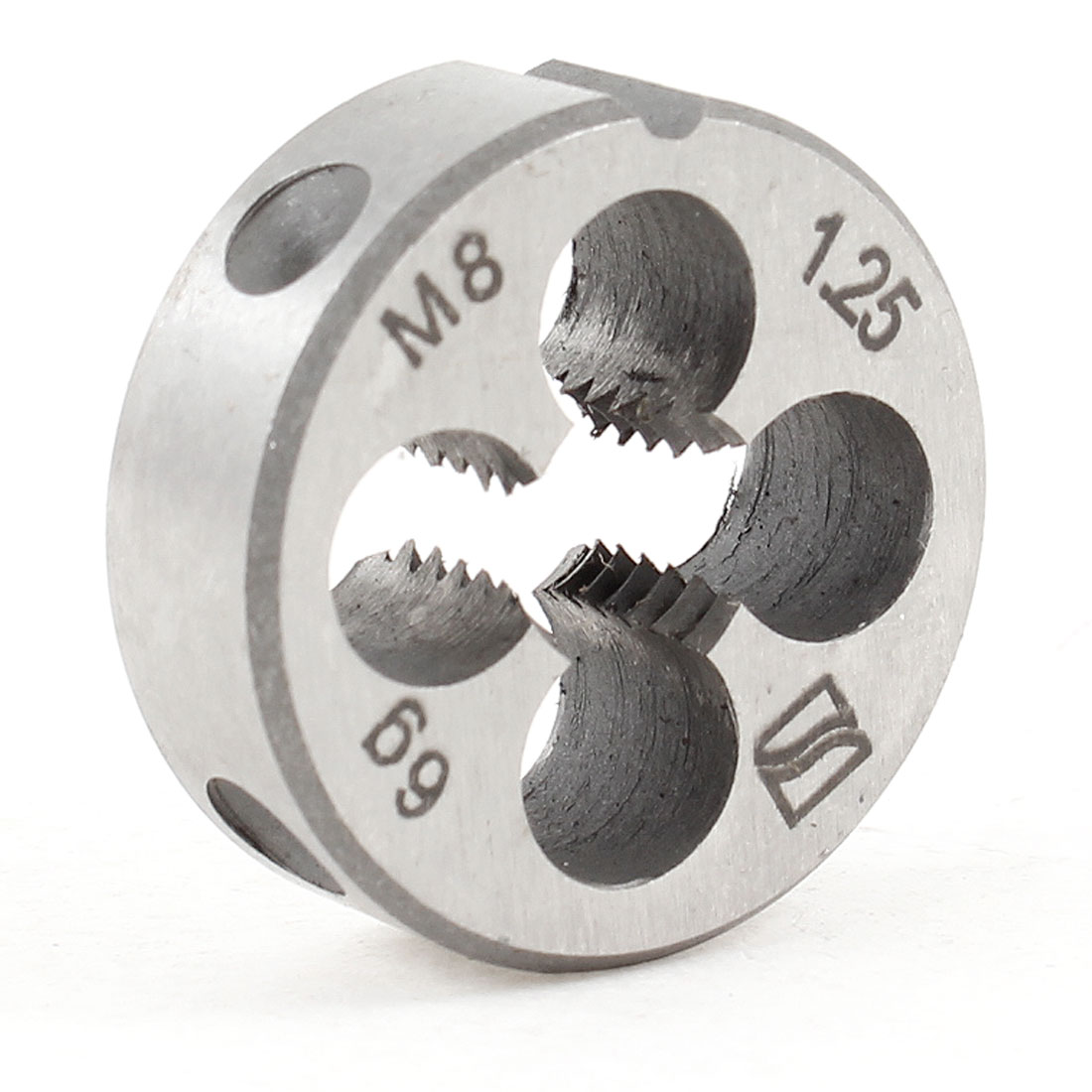 Steel 25mm Outside Diameter Metric M8 Screw Thread Round Die Tool