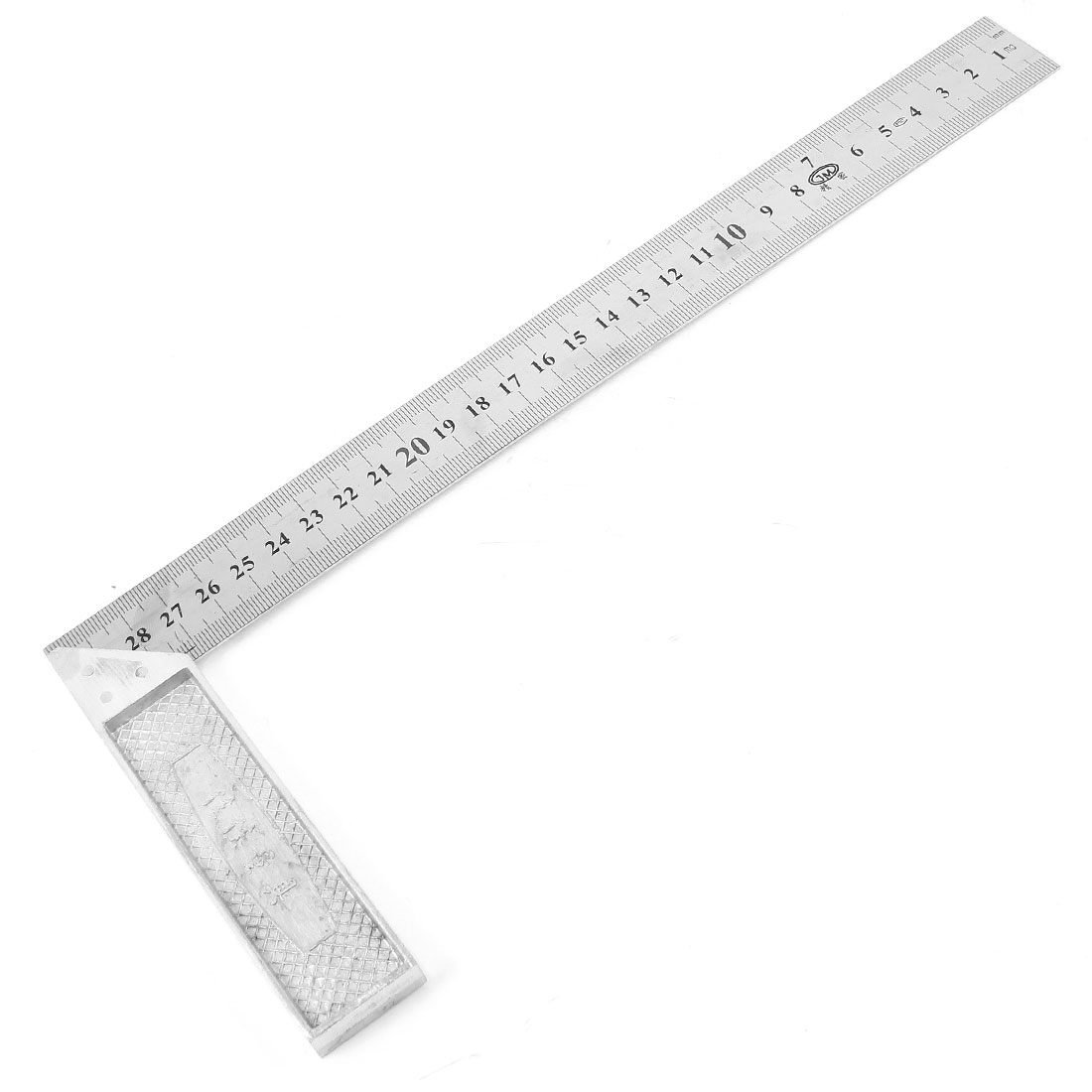 30cm Length Stainless Steel L-Square Angle Square Ruler Silver Tone