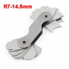Gray Metal 8cm Length 32 Plates R7-14.5mm Radius Gauge Measuring Tool