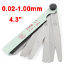 11cm Long 0.02-1.00mm Gap Metric Foldable Measuring Feeler Gauge Tool