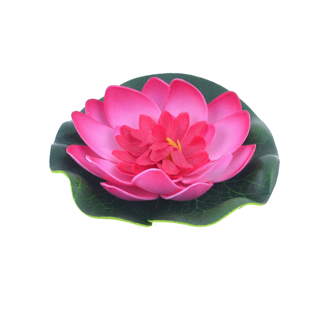 Aquarium Landscaping Green Leaf Magenta Foam Lotus Flower Decoration