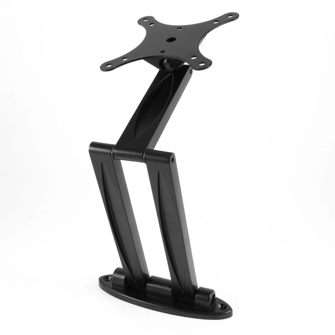 "10-22"" Screen Flat Panel Swivel Metal Bracket Stand 20Lbs 9.1Kg Black"