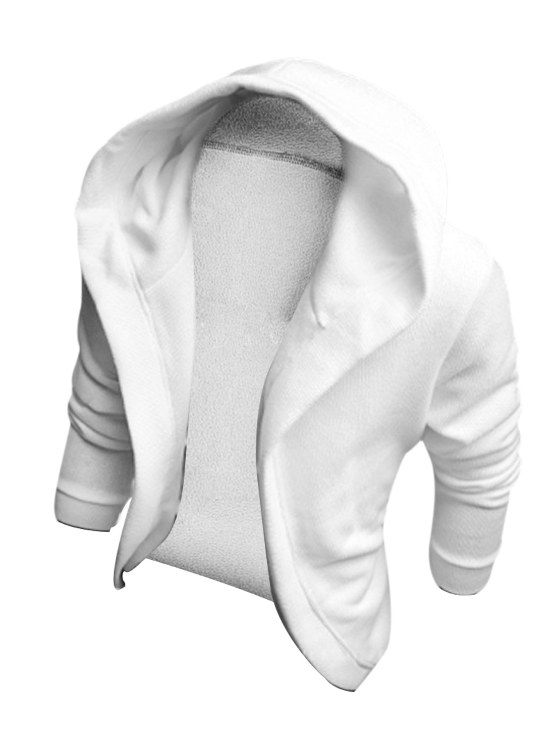 M White Front Opening Slim Fit Fashion Stylish Men Casual Hoodies Jackets