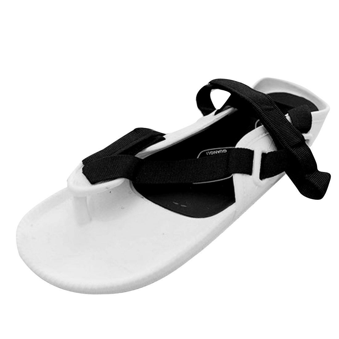 Men's Newly Hook and Loop Fastener Flip Flops White Black US Size 11