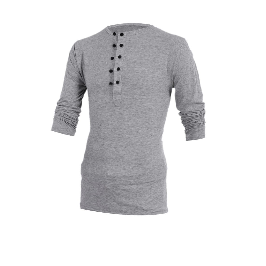 Mans New Fashion Light Gray Double-Breasted Front Spring Top Shirt M