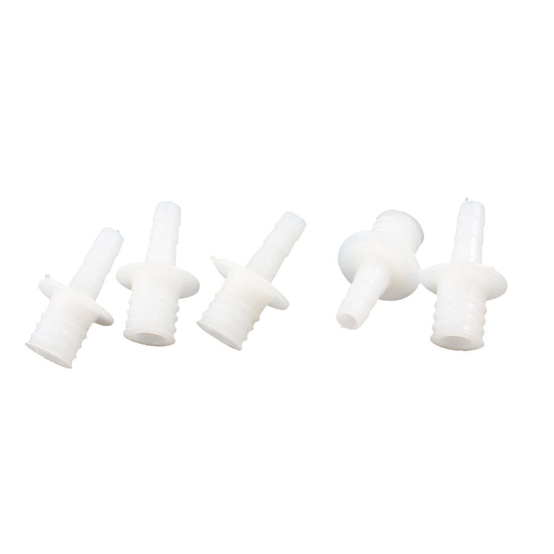 Aquarium Tank Air Pump Plastic 1 Way Airline Tubing Connector White 5 Pcs