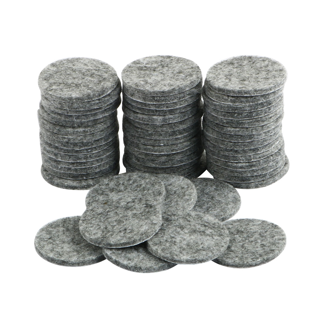 50Pcs Round Shaped Table Chair Furniture Leg Felt Mat Pad Gray