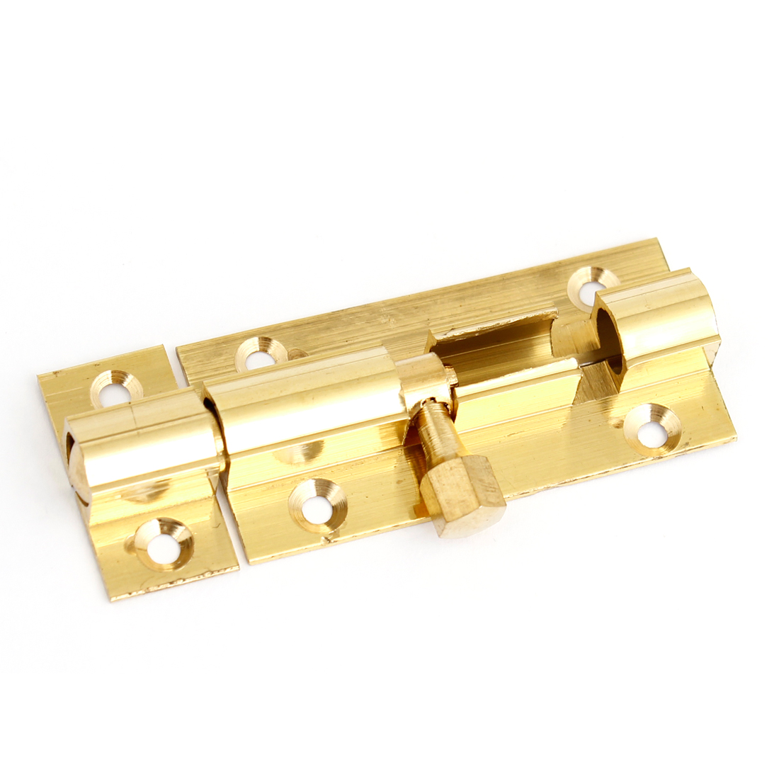 "Door 2.5"" Length Gold Tone Stainless Steel Barrel Bolt Latch Set"