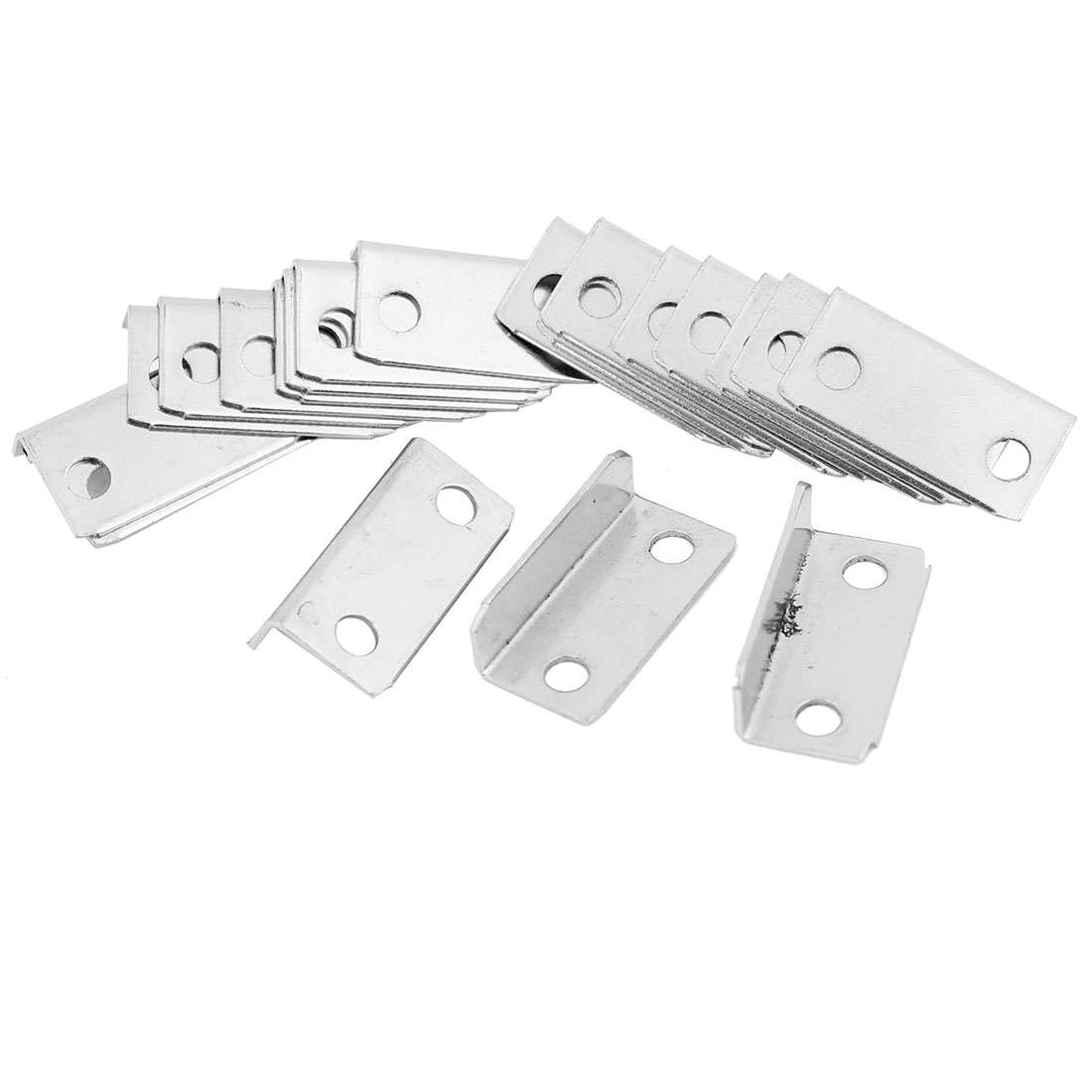 Furniture Drawer 2.8cm Long Silver Tone Support Corner Brace 20 Pcs