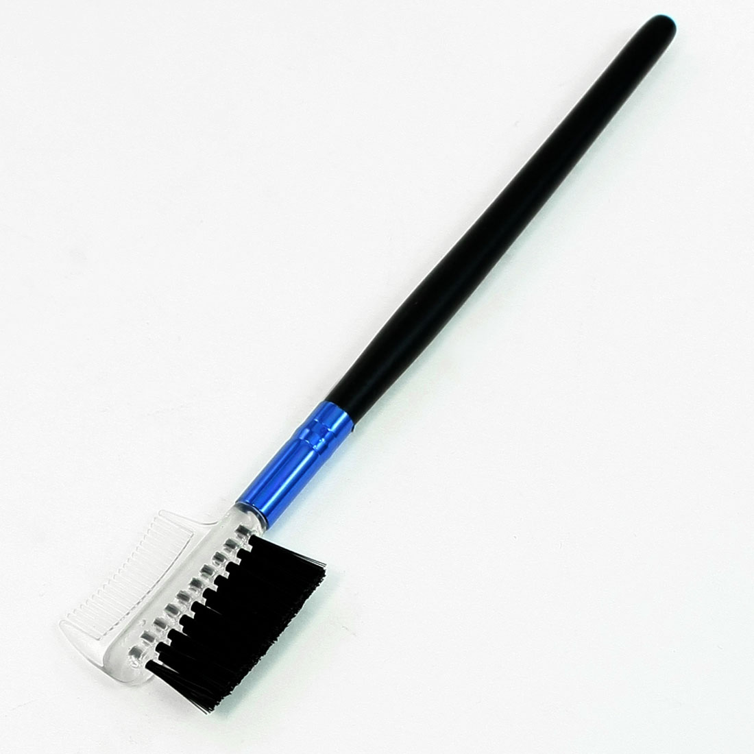 Lady Cosmetic Beauty Tool Black Plastic Handle Eyelash Eyebrow Comb Brush