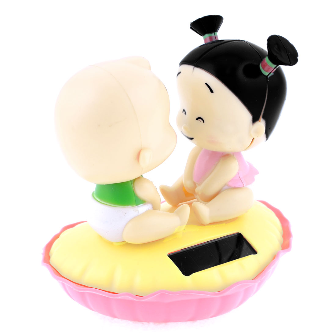Heart Shaped Base Face To Face Chinese Children Figure Toy