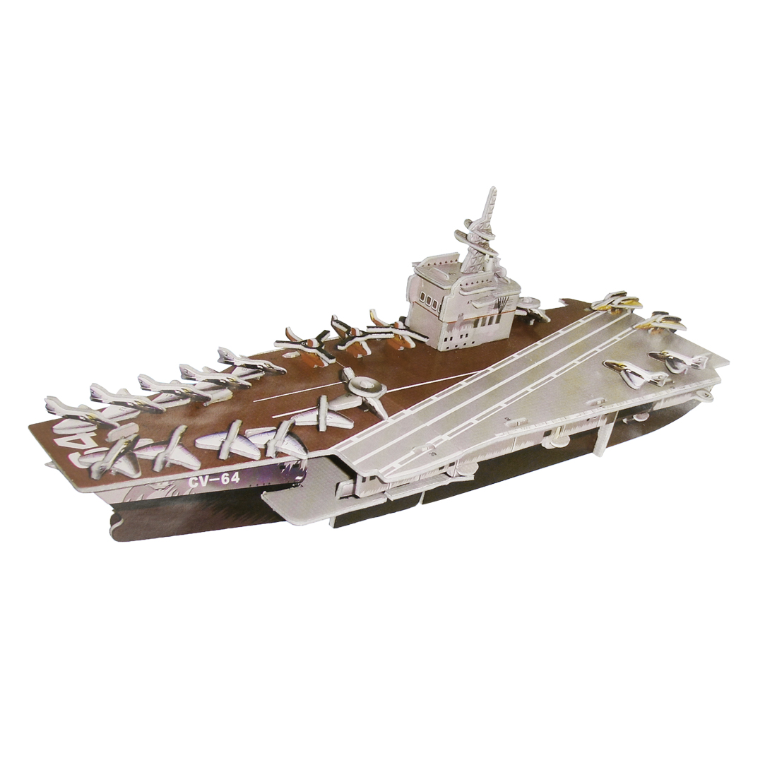 Foam Assembly 3D USS Aircraft Carrier Puzzle Construction Toy for Child