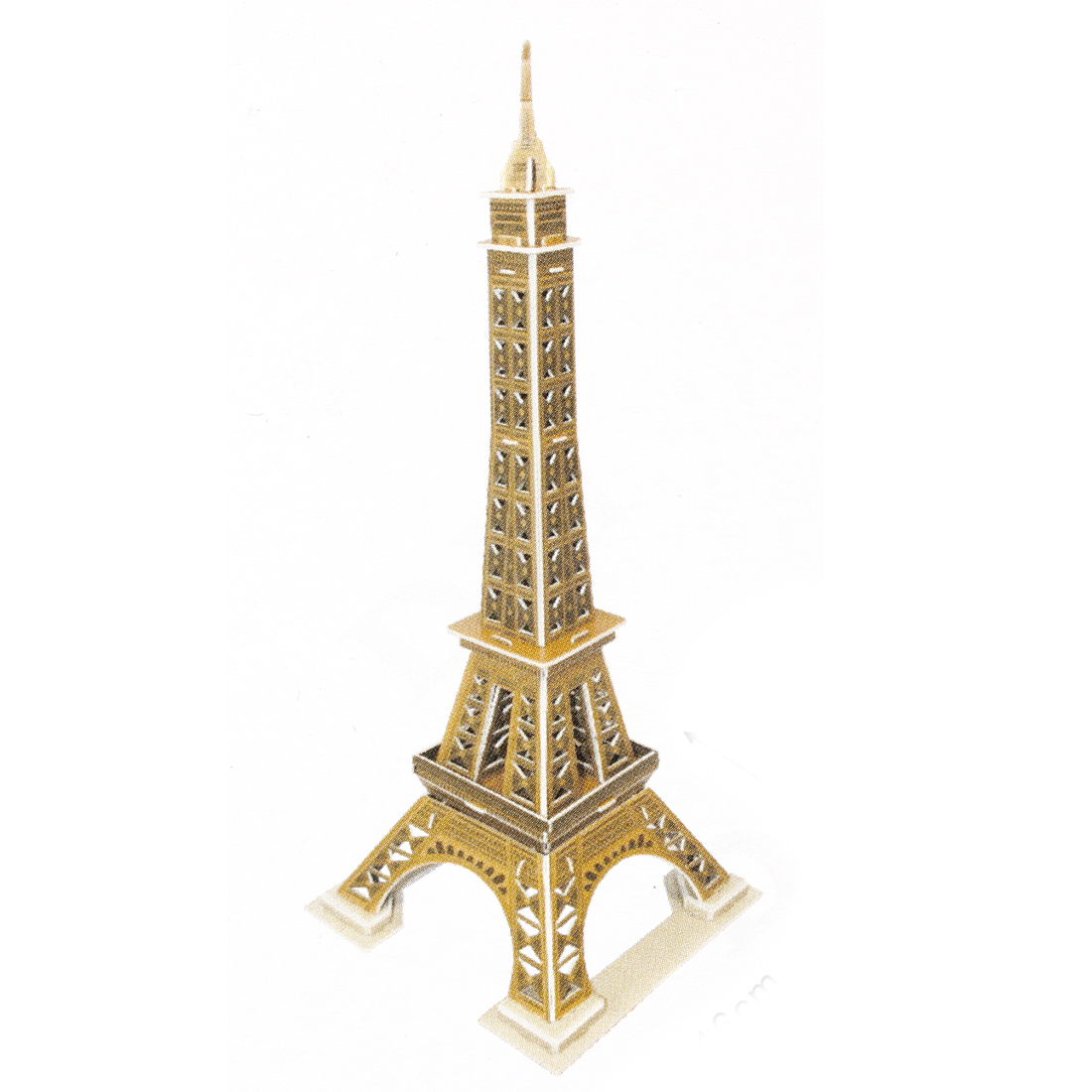 3D Foam Eiffel Tower Style Assemble Toy Gift for Child Light Brown
