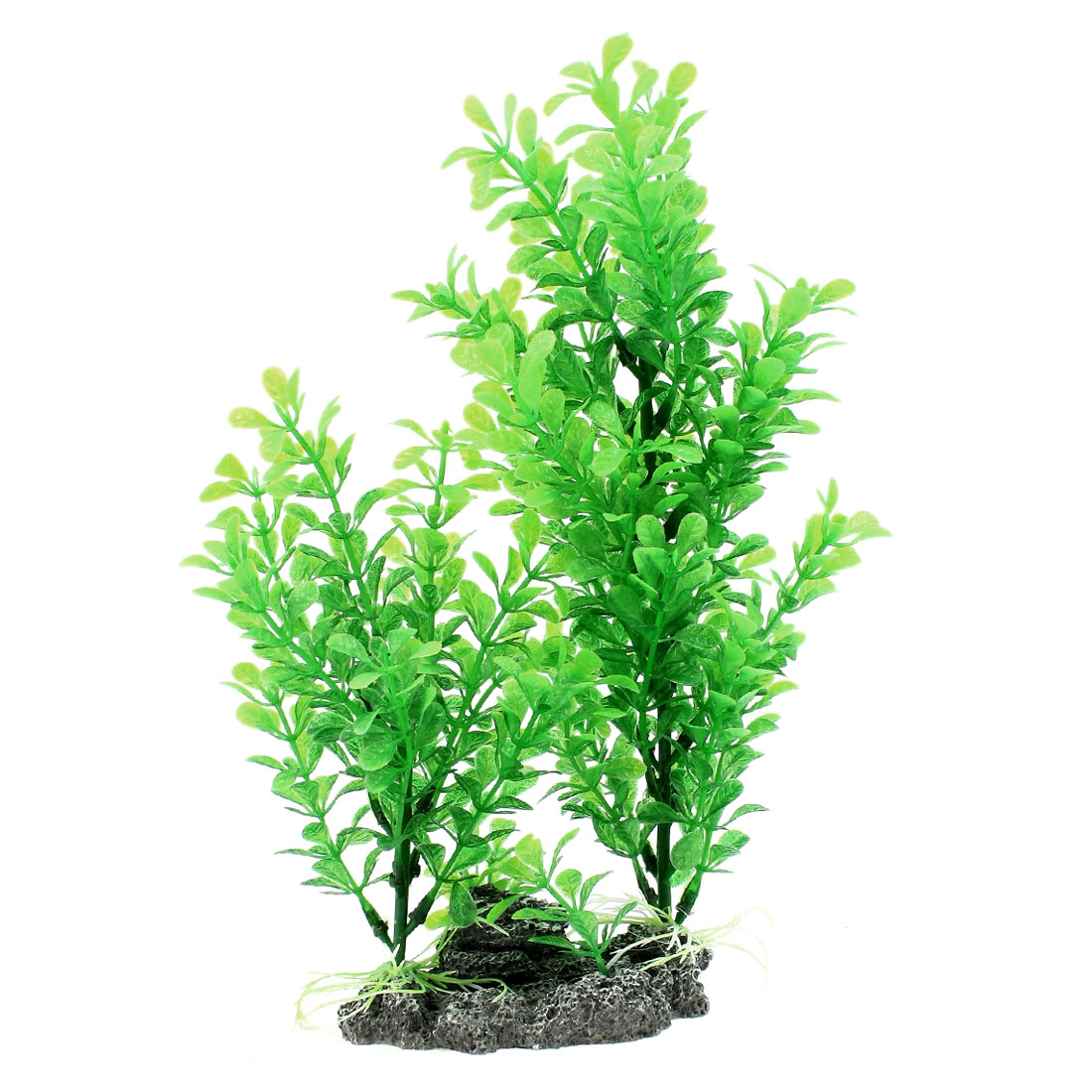 31cm Height Aquascaping Emulational Underwater Plant Adornment w Ceramic Base