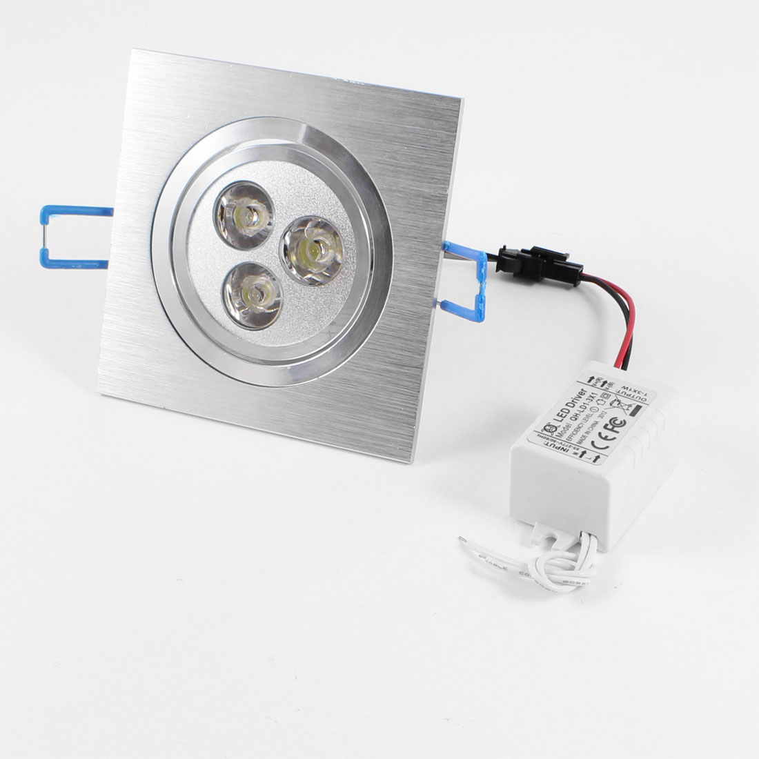 Sliver Tone Aluminium Housing 3 LED White Light Down Spotlight 3W 220V