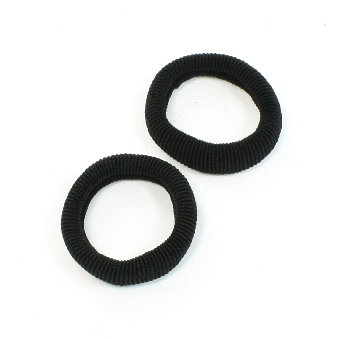 2 Pcs Stretch Band Ponytail Holder Hair Tie Holders Black