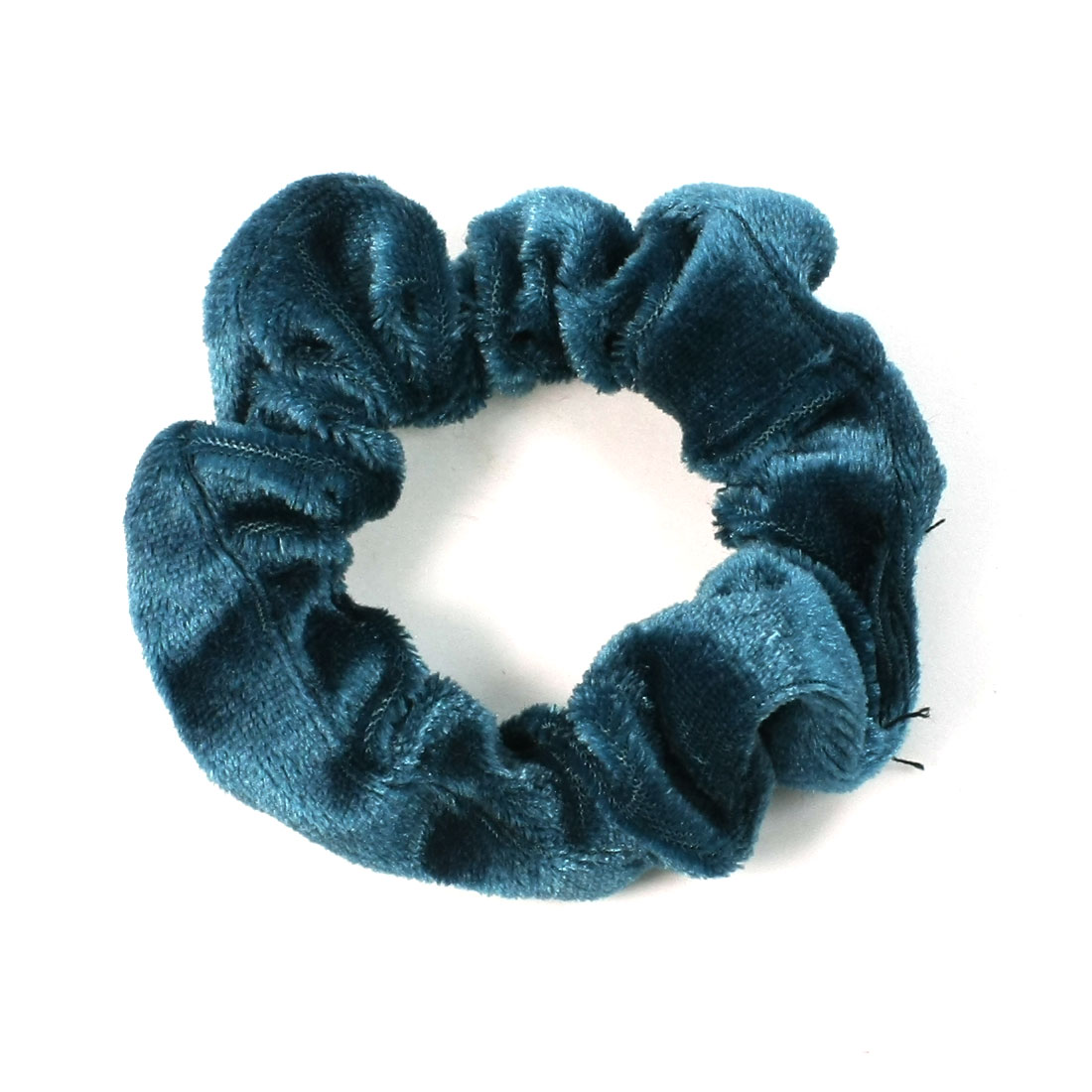 Dark Blue Velvet Elastic Hair Tie Band Ponytail Holder for Ladies